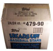 1990 Topps Heads Up Suction Cup Pin-up Baseball Case 24 Boxes 479-90