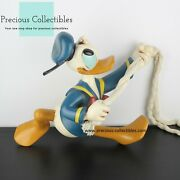 Extremely Rare Donald Duck On A Rope. Big Figurine. Walt Disney Statue.