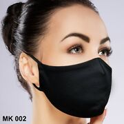 Face Mask 50 Count Black Washable Reusable Breathable Fabric With Filter Pocket
