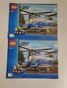 Lego City 4439 Heavy Lift Police Helicopter Instruction Manuals Only