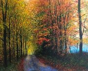 James Scoppettone Sugar Hill Giclee On Canvas Signed Fall Trees