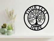 Tree Of Life Metal Wall Art Sign Personalised Address House Family Name