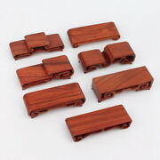 Wholesale 7pc Stand Display China Red Hard Wood Carved Various Style Small Base