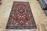 Old Handmade Persian Rug Floral Design 200 X 110 Cm Hand Knotted Wool Rug