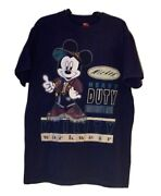 90s Vintage Disney X Mickey Mouse Utility Work Wear All Over Print Tee Shirt 2xl
