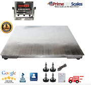 Prime Usa Ntep 3and039 X 3and039 Stainless Steel Washdown Floor Scale 5000 Lb X 1lb