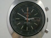 Seiko 5 Sports Speed-timer 7017-6010 Vintage Menand039s Watch Automatic 1970