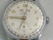 Ruko Vintage Menand039s Watch 1950and039s Manual Winding Small Seconds Triple Calendar