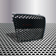 Fit For 07-12 R8 42 Gt Mk1 Car Grill Grille Insert Front Gloss Black Euro Style