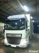 To Fit Daf Cf 2014+ Space Cab Steel Roof Visor Light Bar + Oval Spot Lamps X6