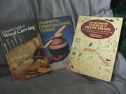 3 Wood Working And Wood Carving Books