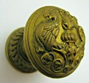Griffins Monsters Beasts Antique Decorative Arts Brass Bronze Ornate Paperweight