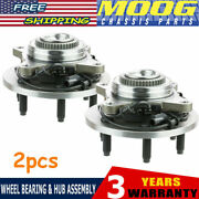 Moog Pair Front Wheel Hub Bearing For 05-08 Ford F-150 4wd 06-08 Lincoln Mark Lt