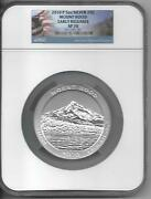 2010-p Mount Hood Np Atb 5 Oz Silver Ngc Sp70 Early Release Flag Label