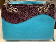 Divinity Bible Cover Purple And Teal. Silver Chain Purse-like Bible Carrier.