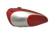 Aluminum Fuel Petrol Tank For Triumph T160 Cherry And Silver Paint