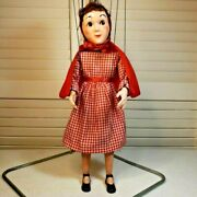 1960's Red Riding Hood 818 Toy Vintage Hazelle's Popular Marionette Usa