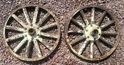 2 - Ford Model T Wooden Spoke Wheel And Hubs With Original Paint