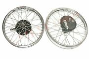 Fit For Triumph 350 Front Rear Wheel Rim And Brake System + Stainless Steel Spokes
