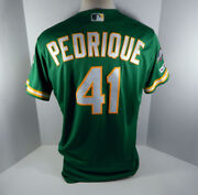 2019 Oakland As Athletics Al Pedrique 41 Game Used Kelly Green Jersey 150 Ps P