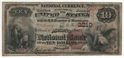 1882 10 Ashland National Banknote Currency Kentucky Circulated Fine + 4972