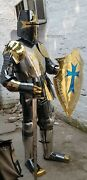 Stainless Steel Rust Free Full Body Wearable Armor Suit With Golden And Silver