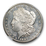 1887 S 1 Morgan Dollar Ngc Ms 61 Pl Uncirculated Proof Like Tough In Pl