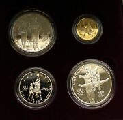 1995 4 Coin Atlanta Olympic Gold Silver Proof Commemorative Us Mint Gold 5 Coin