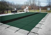 Gli Hyperlite Rectangle Solid Swimming Pool Safety Cover W/ Sure-flo Drain Panel