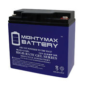 Mighty Max 12v 22ah Gel Battery For Golden Technologies Literider Gp162 Scooter