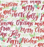 Holly Wishes 30x 417 Ft Retail Gift Wrap Paper Counter Roll Christmas Holiday