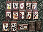 Disney Pin Hidden Mickey Fence Bad Wolf Oswald Pluto Donald Chasers Pins Set/lot