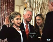 Bill Clinton Go Hillary Authentic Signed 11x14 Photo Autographed Bas A02044