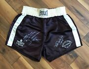 😵🥊autographed Michael Spinks Fight-worn Boxing Training Trunks Vs. Mike Tyson