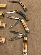 4folding Pocket Knives From Frost Cutlery Custom Design Trappers/lock Blades