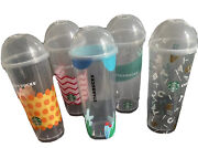 Starbucks Siren Logo Reusable Cup With Clear Dome Lid For Cold Drinks -no Card
