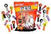 Pez Mini Halloween Candy Dispensers Trick Or Treat Favors Bag Of 12 0.32 Ounce