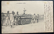 1906 Hong Kong Real Picture Postcard Cover To Bruxelles Belgium Chinese Coffin