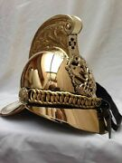 Collectables Royal British Victoria Chief Officers Armor Helmet Larps Brass Pol