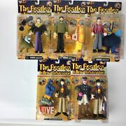 Beatles Mcfarlane Complete Set 9 Figures Yellow Submarine Sgt Peppers Moc 1999