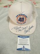 Tom Seaver Day Signed Hat Beckett Coa Stunning, Only One Very Rare. Personalized