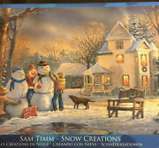 Eurographics Puzzle 1000 Piece Sam Timm Snow Creations Scenic Colorful Winter ++