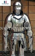 Full Gothic Knight Plate Suit Of Armor Breastplate, Backplate, Gorget, Arm And Leg