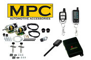 2-door 45lb Shaved Handle Popper Kit With 2-way Car Alarm And Lcd Remote Control