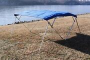 Vortex Royal Blue 4 Bow Bimini Top 12and039 Long 79-84 Wide 54 High Complete Kit
