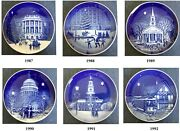 Bing And Grondahl Set Of 6 5 Collectible Plates Christmas In America Series