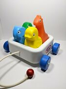 Vintage Little Tikes Animal Pal Friends Pull-along Toy Wagon 1980s Plastic Wheel