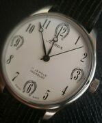 Vintage Arnex Equestrian Horseshoe Lucky Dial,new Case,and New Lizard Jb Band