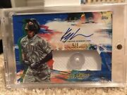 2020 Inception Baseball Kyle Lewis Autograph Button Card D 6/6 Mariners