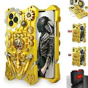 Heavy Duty Shockproof Metal Aluminum Gold Case Cover For Iphone 11 Pro Max/8/7/6
